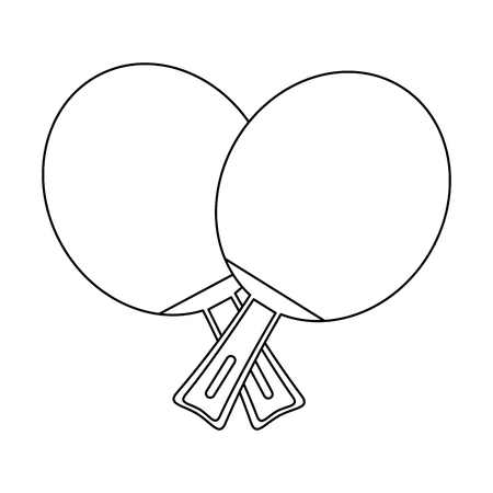Table tennis rackets sport icon vector illustration graphic design
