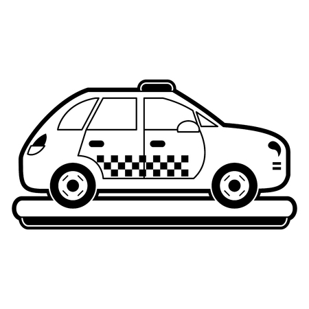 Taxi cab vehicle icon vector illustration graphic design Illustration