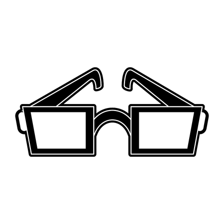 Cinema 3d glasses icon vector illustration graphic design Illustration
