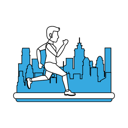 Man running cartoon icon vector illustration graphic design