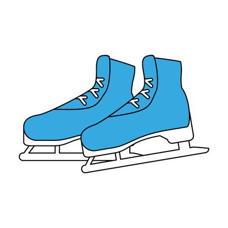 Ice skates equipment icon vector illustration graphic design