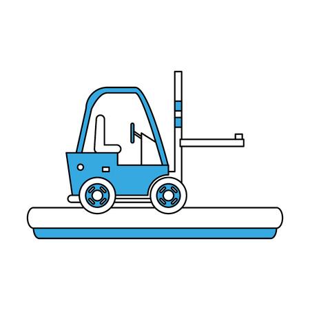 Cargo forklift vehicle icon. Vector illustration graphic design. Illustration