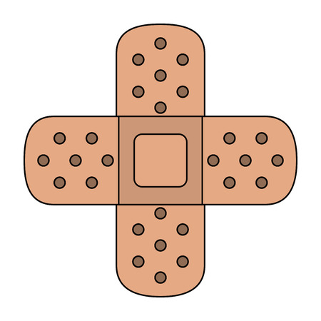 Medical bandages crossed symbol icon vector illustration graphic design Vectores