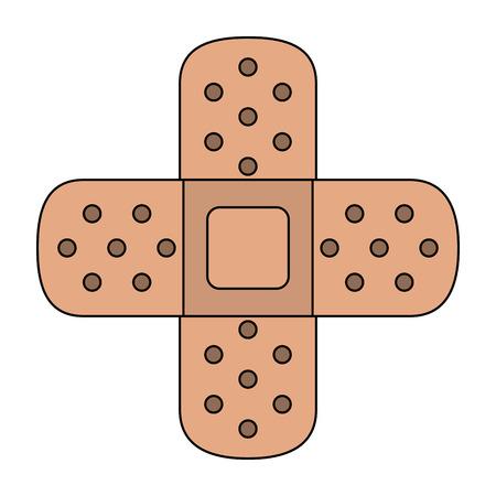 Medical bandages crossed symbol icon vector illustration graphic design Vettoriali