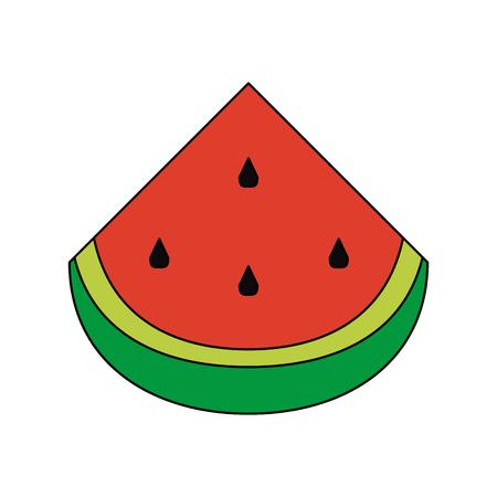 Watermelon sliced fruit icon vector illustration graphic design