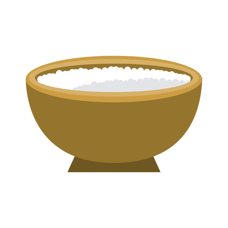 Spa sea salt in bowl icon, vector illustration, graphic design Illustration