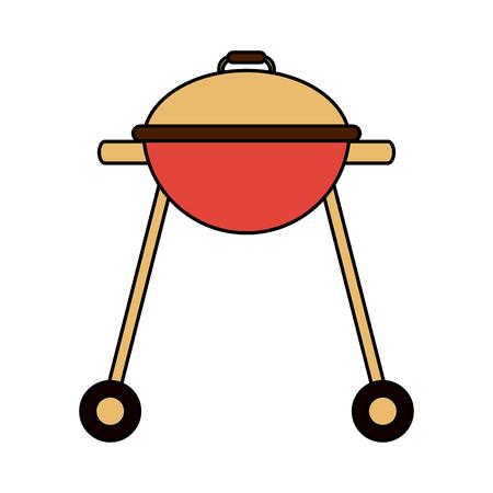 Bbq grill isolated icon vector illustration graphic design Illustration