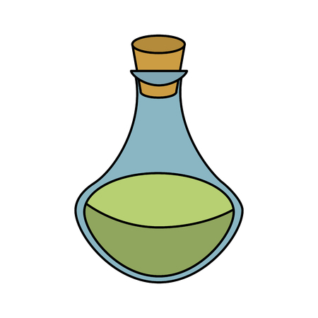 Spa oil massage bottle icon vector illustration graphic design