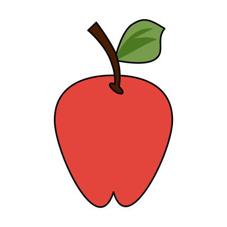 Apple delicious fruit icon vector illustration graphic design