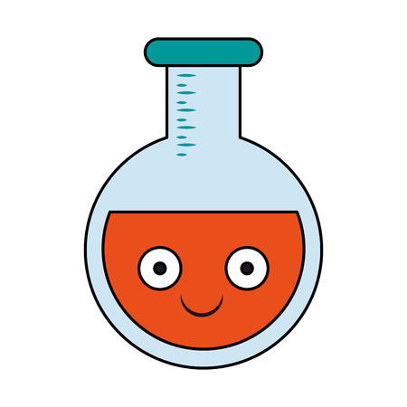 Laboratory flask isolated cartoon smiling vector illustration graphic design Illustration