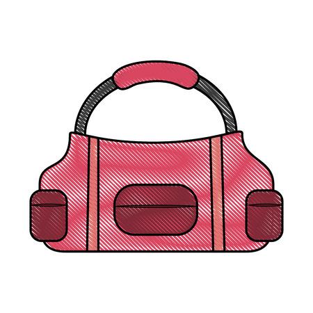 Sports bag illustration.