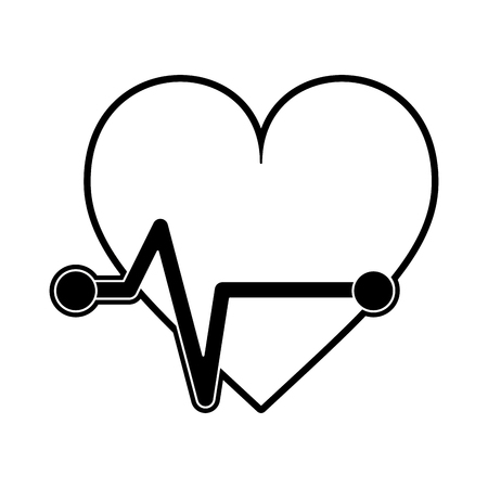 Heartbeat cardio symbol icon vector illustration graphic design