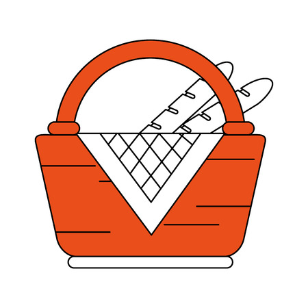 Picnic basket symbol icon vector illustration graphic design