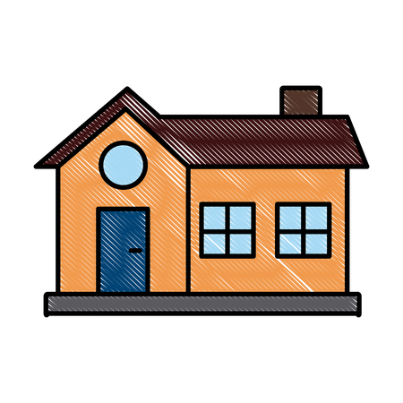 House real estate symbol icon vector illustration graphic design.