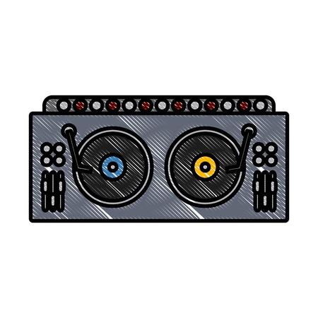 DJ turntable symbol icon vector illustration graphic design