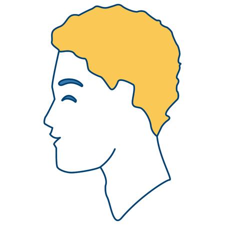 Man silhouette head icon vector illustration graphic design Çizim