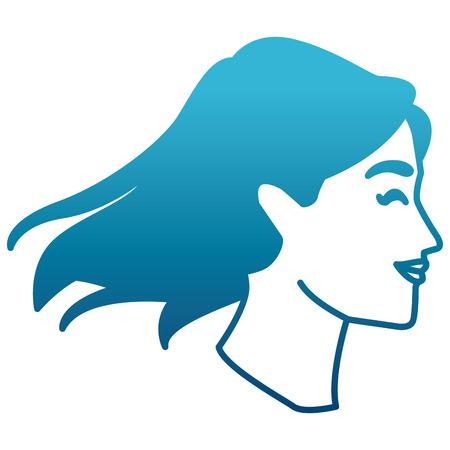 Progettazione grafica dell'illustrazione di vettore dell'icona della siluetta capa della donna Vettoriali
