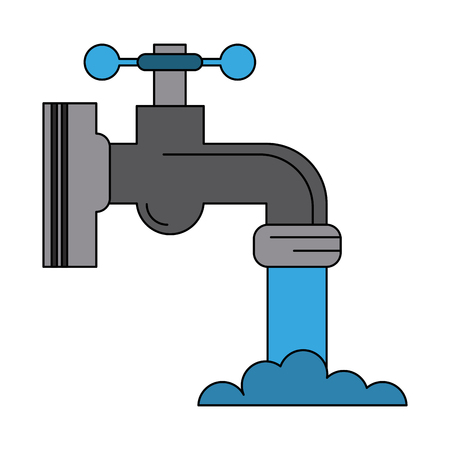 Faucet open isolated icon vector illustration graphic design