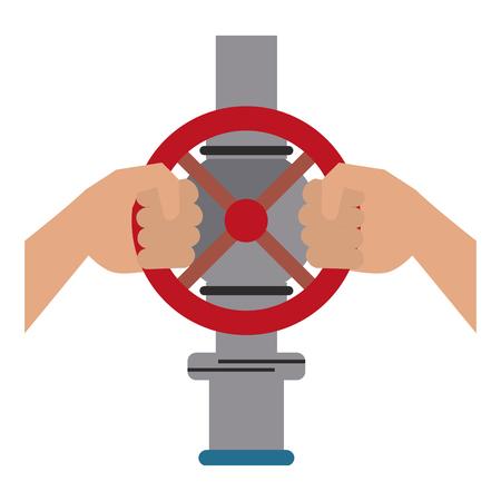 Hands on pipeline icon vector illustration graphic design