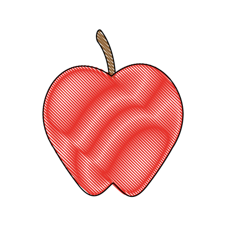 Apple fruit sweet icon vector illustration graphic design