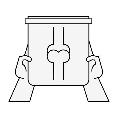 Hand holding X ray bones icon vector illustration graphic design