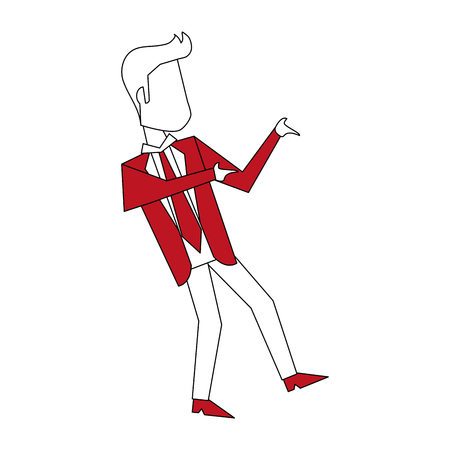 Businessman with winner pose icon vector illustration graphic design Illustration