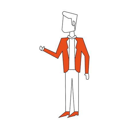 Businessman with suit icon vector illustration graphic design Illustration
