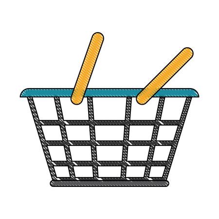 Shopping basket symbol icon vector illustration graphic design 向量圖像