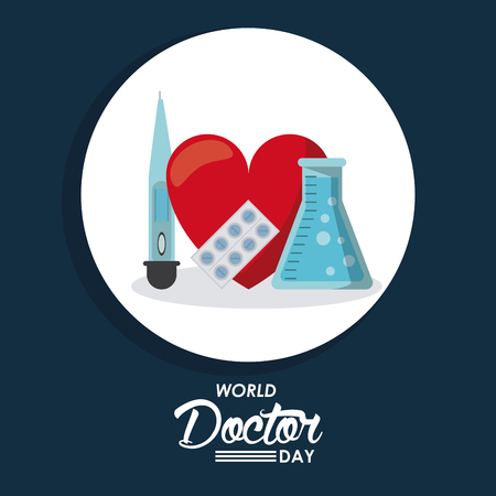 World doctor day icon vector illustration graphic design Vectores