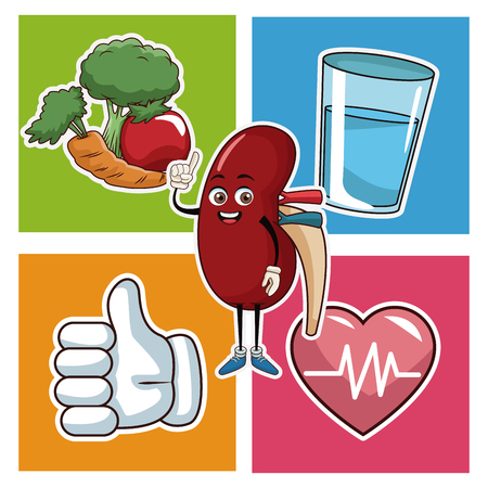 World kidney day icons icon. Vector illustration graphic design.