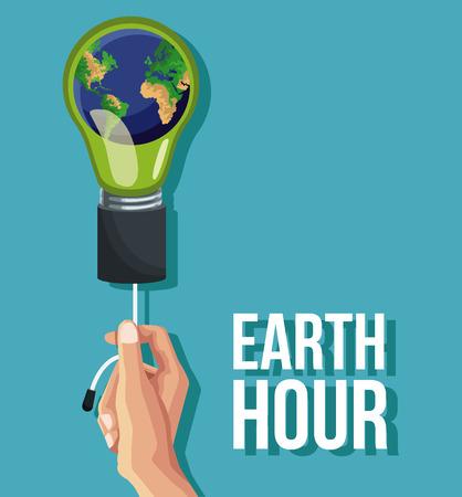 Earth hour design icon vector illustration graphic Фото со стока - 93757825