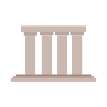 Greek building columns icon vector illustration graphic design Vectores