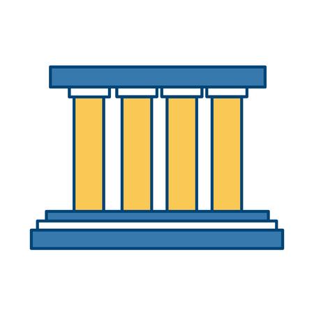 Greek building columns icon vector illustration graphic design Vettoriali