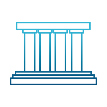 Greek building columns icon vector illustration graphic design Illustration