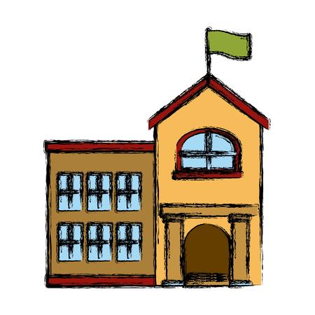 School building isolated icon vector illustration graphic design