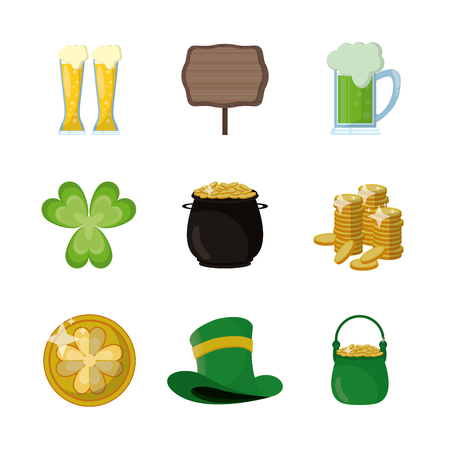 St Patrick's day icons icon vector illustration graphic design