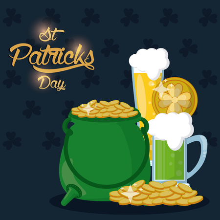 Saint patrick days card icon vector illustration graphic design Illustration