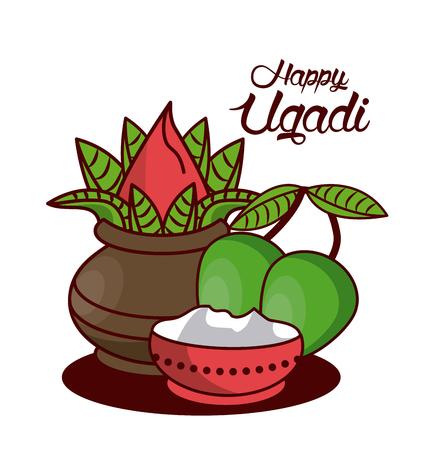 Happy Ugadi design icon vector illustration graphic design.