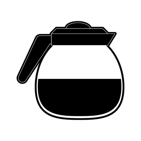 Coffee glass pot icon vector illustration graphic design