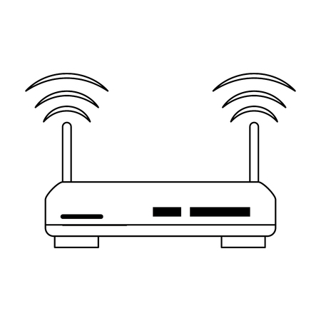 Wifi router technology icon vector illustration graphic design