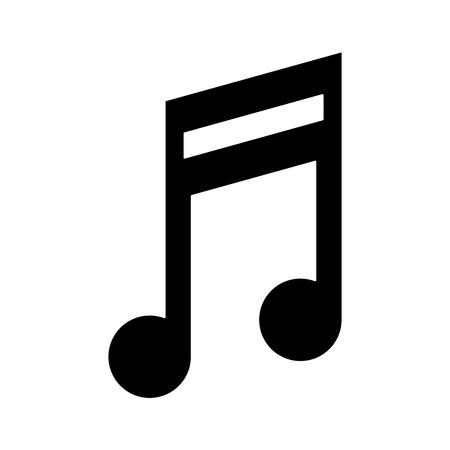 Music note symbol icon vector illustration graphic design