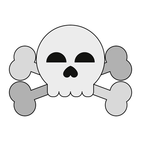 skull and bones symbol icon vector illustration graphic design