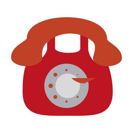 Vintage telephone symbol icon vector illustration graphic design Illustration