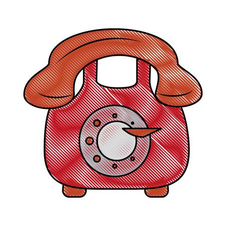 Vintage téléphone symbole icône vector illustration design graphique