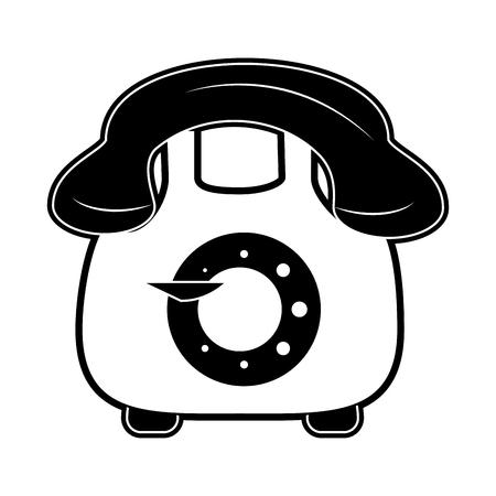 Vintage telephone symbol icon vector illustration graphic design Illusztráció