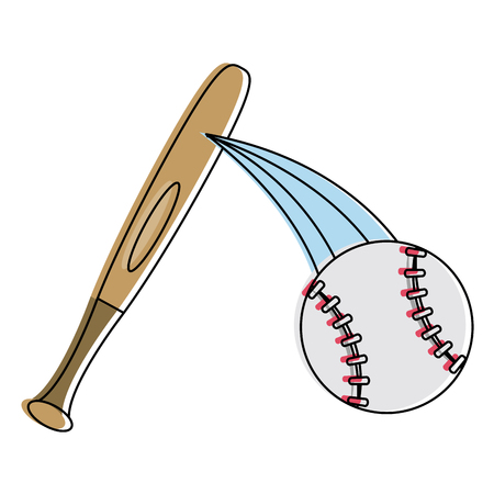 Baseball ball sport icon vector illustration graphic design