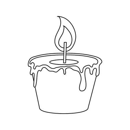 Spa candle aromatherapy icon vector illustration graphic design
