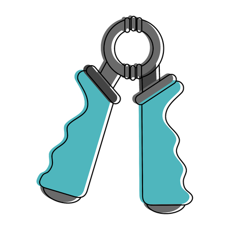 Hand grip accesory icon vector illustration graphic design