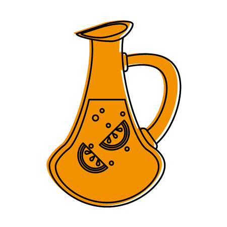 Jar of lemonade icon vector illustration graphic design