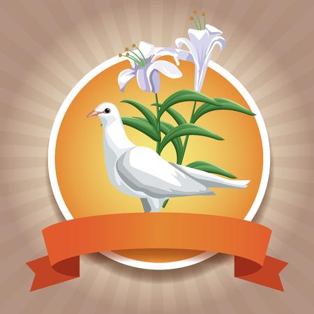 Christendom om pictogrammen met vector de illustratie grafisch ontwerp van het lintpictogram Stockfoto - 94143875